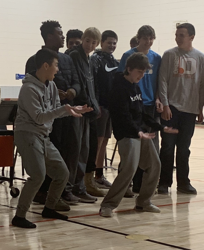 Wrestlers showing off a few dance moves.