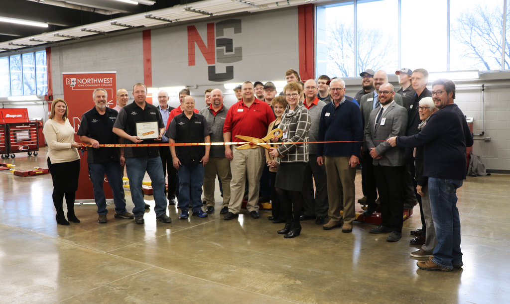 NCC Ribbon-Cutting for their new Automotive Lab.